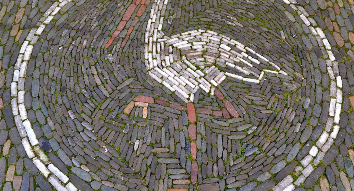 Mosaik mit Storch - Stadtführungen in Freiburg mit Blickpunkt Freiburg